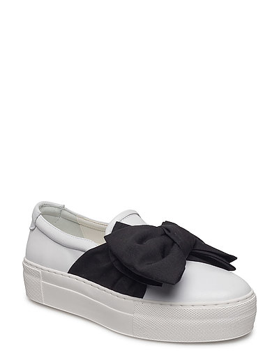 SHOES - WHITE NAPPA/BLACK SATIN 890