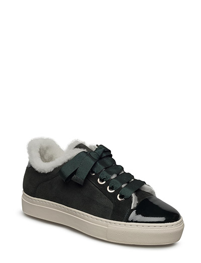 SHOES - GREEN PAT/SUE/OFFWHITE LIN 255