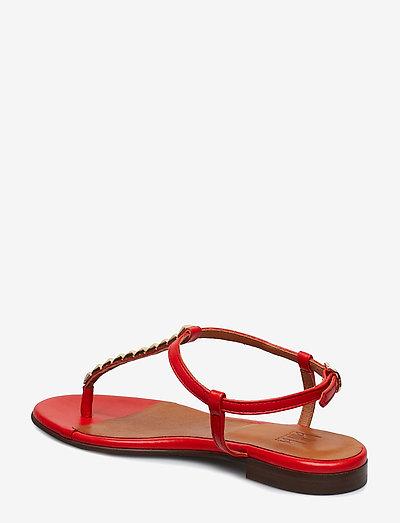 Billi Bi Shoes 8623- Sandały Red Lipstick Nappa/ Gold 772