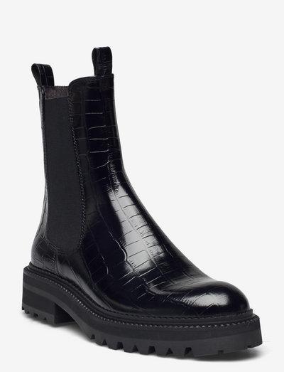 Boots - chelsea støvler - black monterrey croco 20 i1