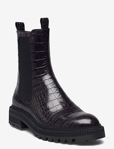 Boots - chelsea støvler - grey luisisana croco 13