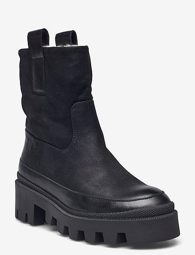 Warm lining A1309 - flade ankelstøvler - black varese 90