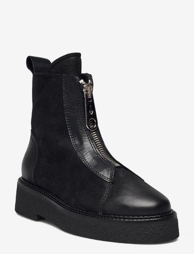 Boots - flade ankelstøvler - black varese 90