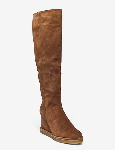 Long Boots A1335 - langskaftede - tabac babysilk suede 555