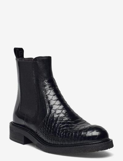 Boots - chelsea støvler - bl.poloten/bl.croco patent 230