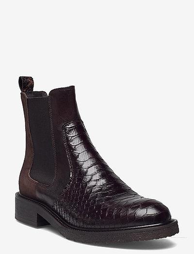 Boots - chelsea støvler - t.moro 490 polo/brown snake265