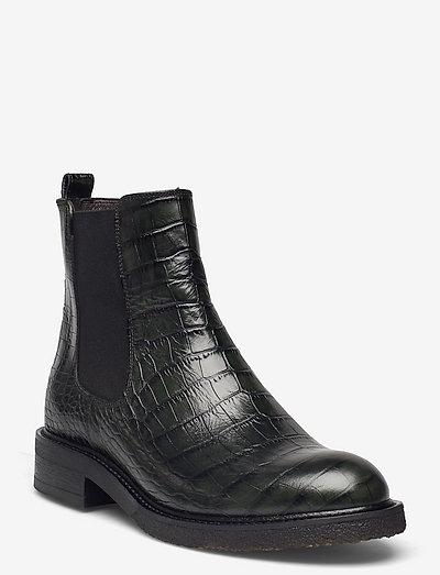 Boots - chelsea støvler - green 8509 luisiana croco 17