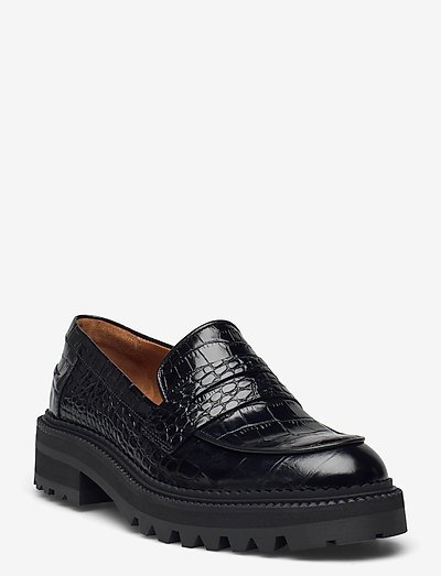 Shoes A1360 - loafers - black croco 10