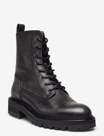 Boots - flade ankelstøvler - grey itaca calf 83