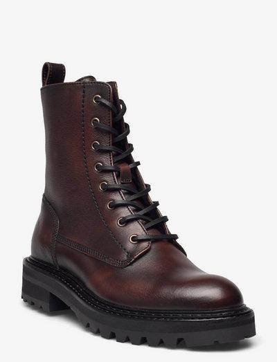 Boots - flade ankelstøvler - mogano brown itaca 86