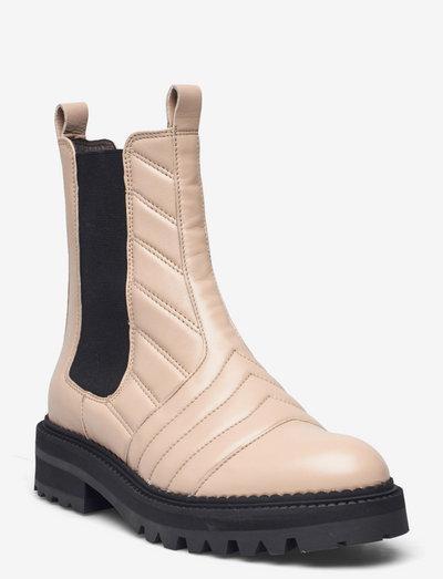 Boots - chelsea støvler - beige calf 82