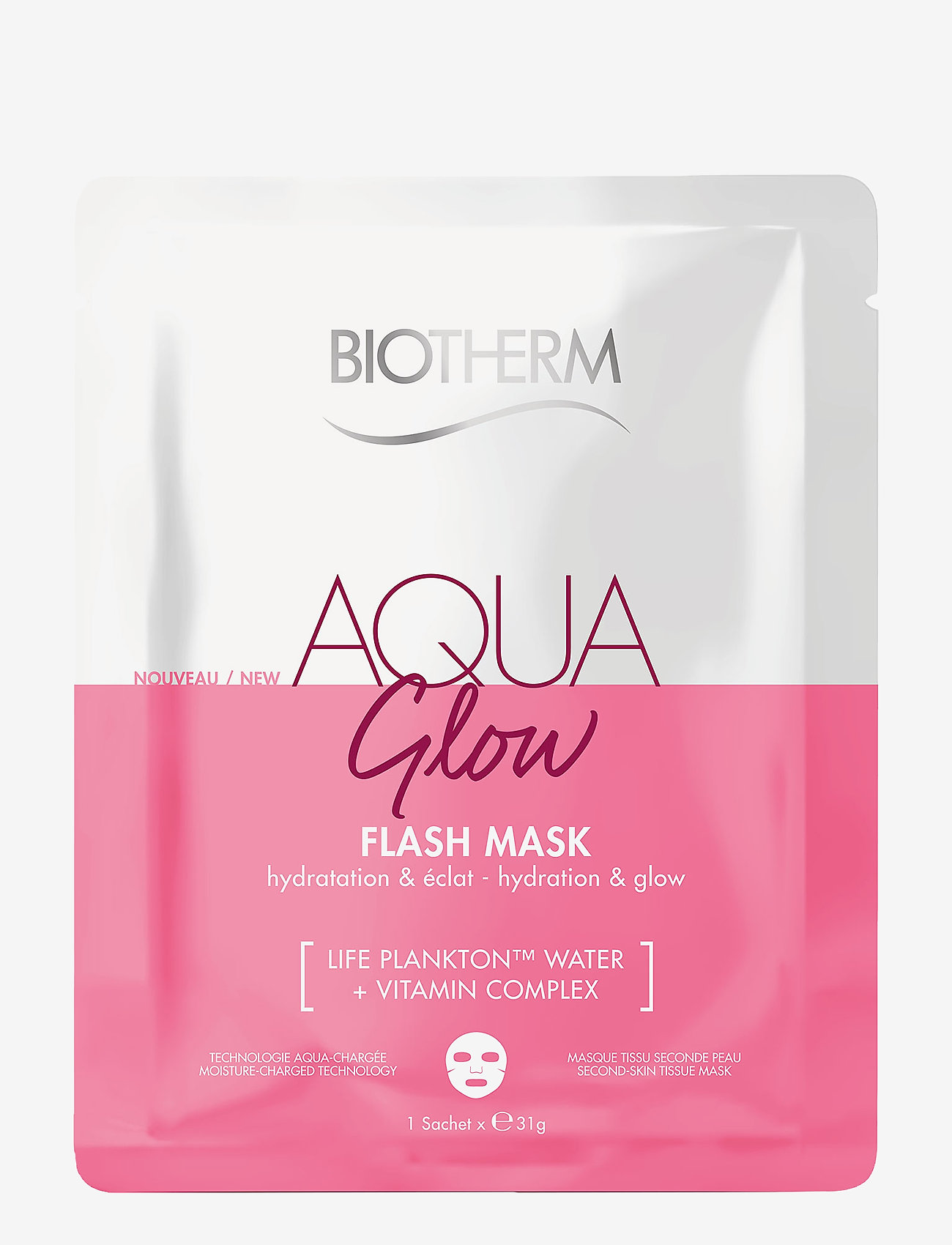 Biotherm - Aqua Glow Flash Mask - sheet mask - clear - 0