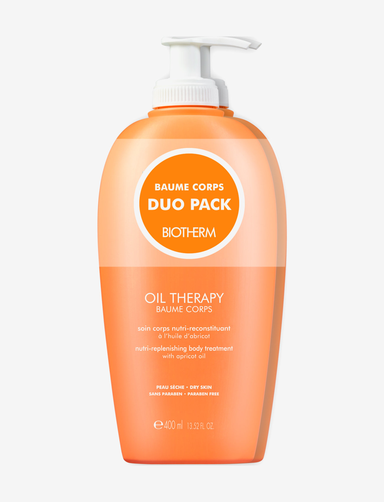 Biotherm - Oil Therapy Baume Corps Bodylotion 400ml Duo Pack - body lotion - clear - 0