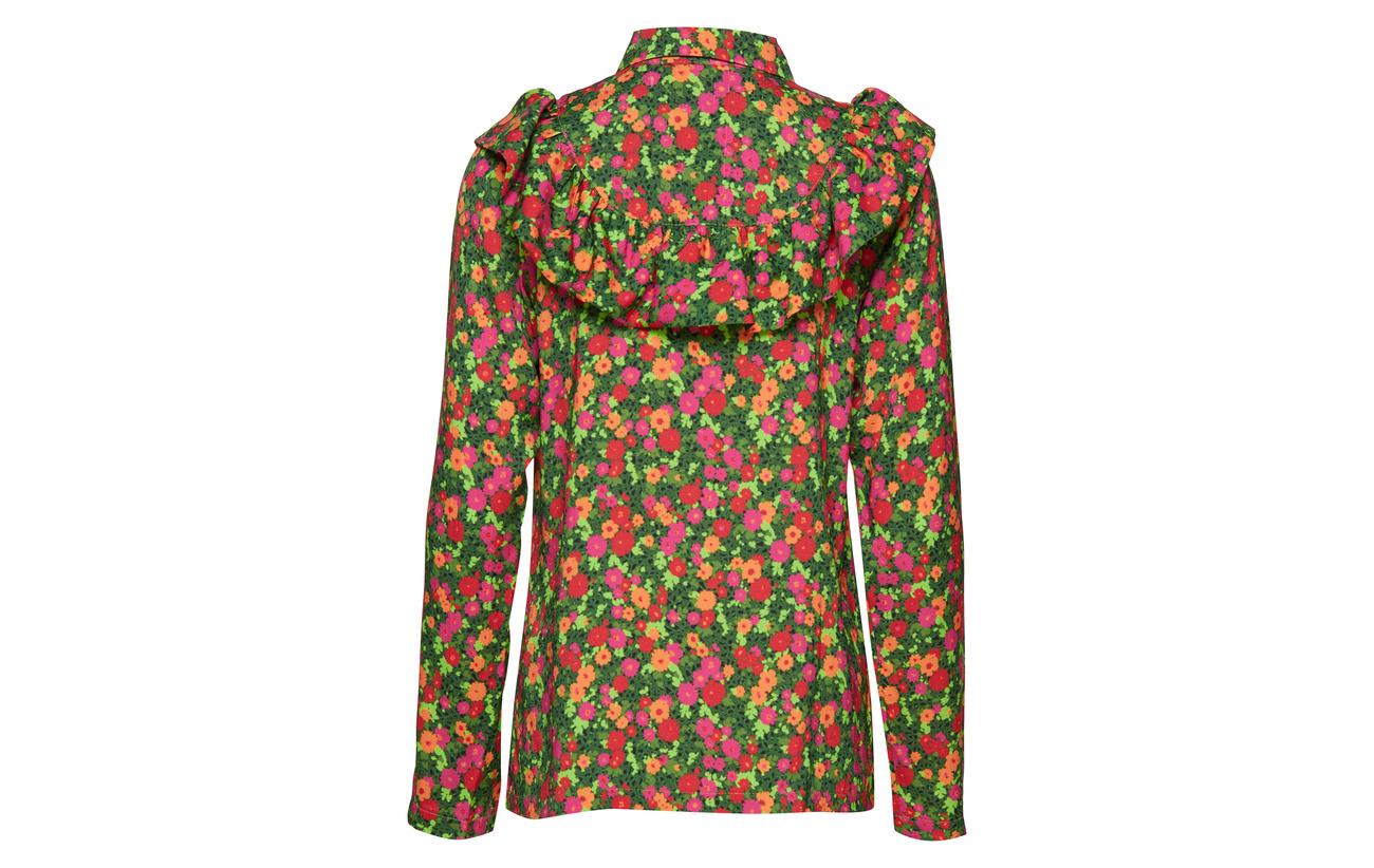 Garden Herskind Viscose 100 Birgitte Iris Shirt Flowers xtqwdCzRd