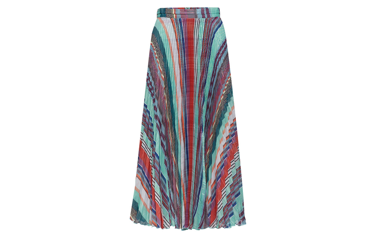 Polyester Stripe Skirt Nessa Blue 100 Herskind Multi Birgitte XO0qw688