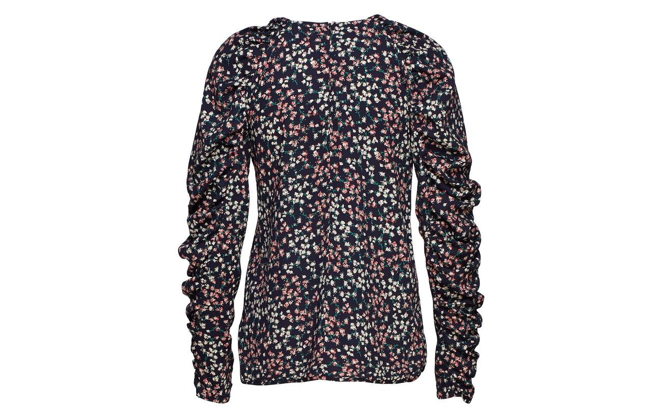 Blouse 100 Herskind Birgitte Polyester Flower Puff Red qE4Up