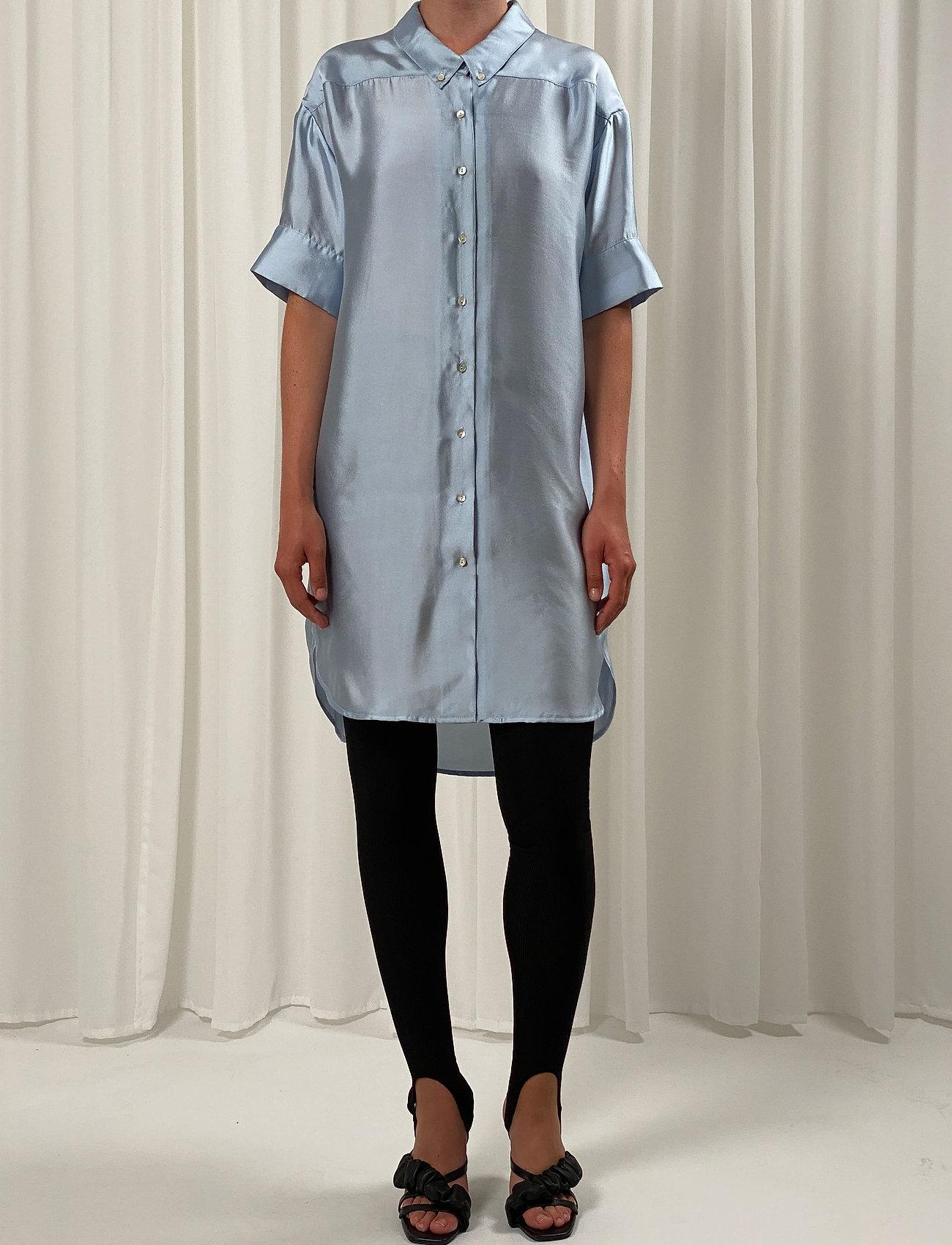 Birgitte Herskind - Melody Shirt Dress - skjortekjoler - light blue - 0