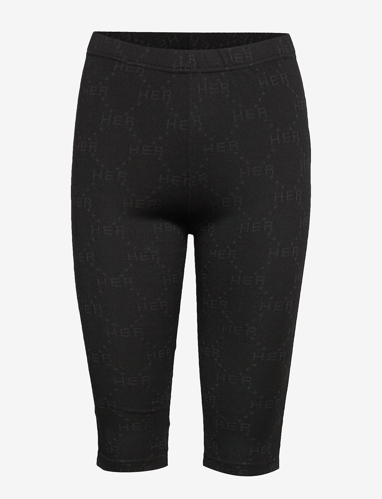 Birgitte Herskind - Bike Biker shorts - cycling shorts - black logo - 1