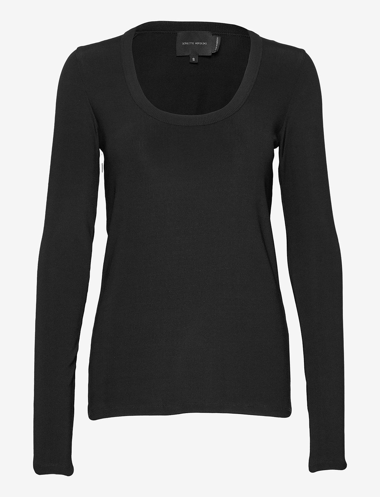 Birgitte Herskind - Indy T-Shirt l/s - langærmede toppe - black - 1