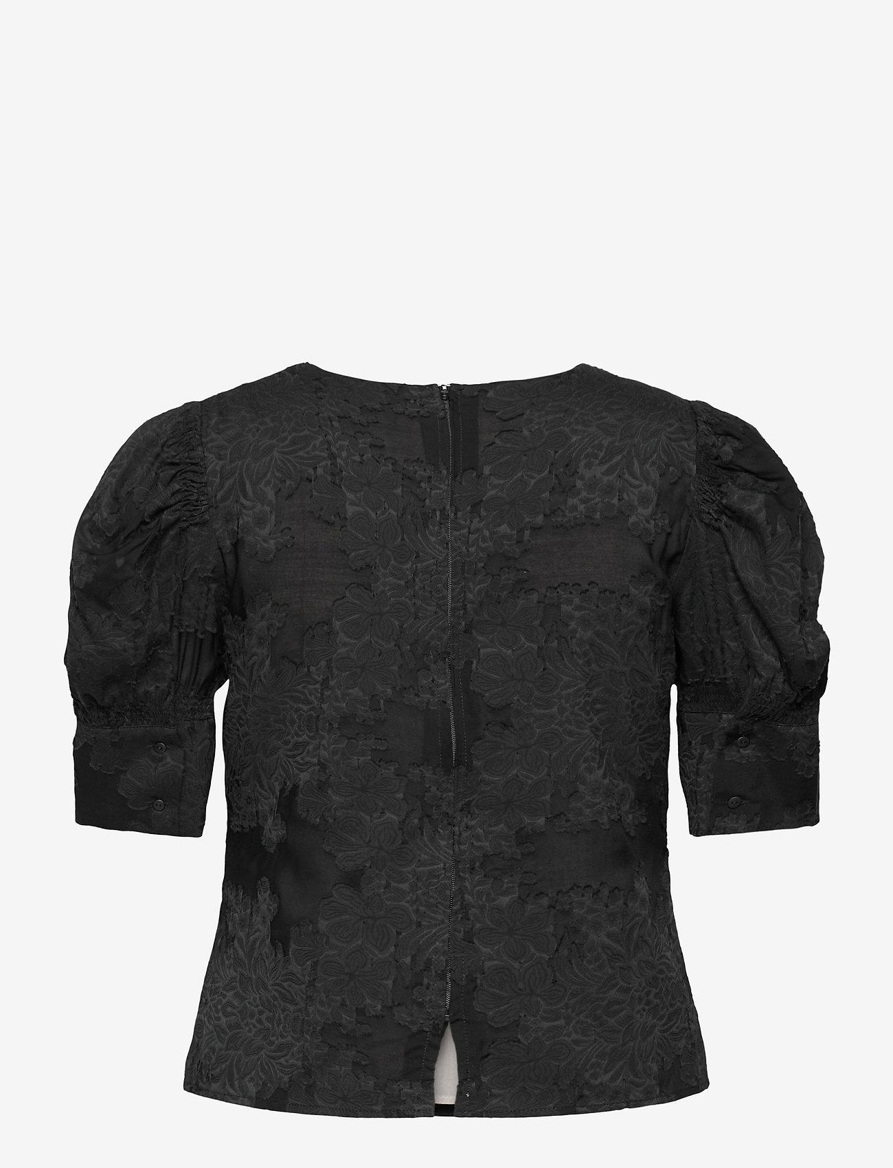 Birgitte Herskind - Wiliam Ltd Blouse - kortærmede bluser - black - 1
