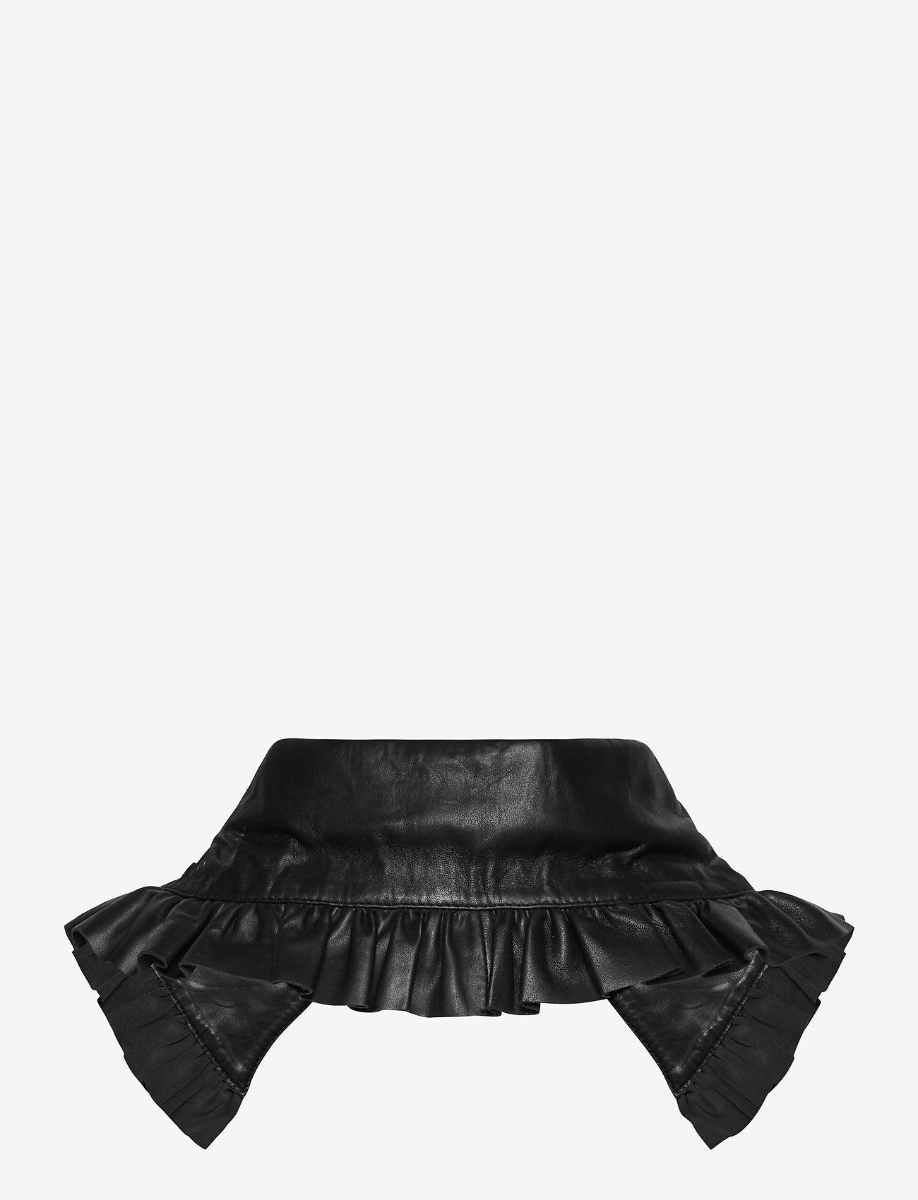 Birgitte Herskind - Collin Leather Collar - kragen - black - 1