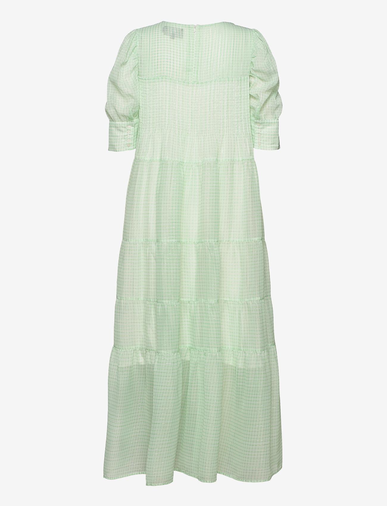 Birgitte Herskind - Silla Dress - sommerkjoler - light green checks - 1