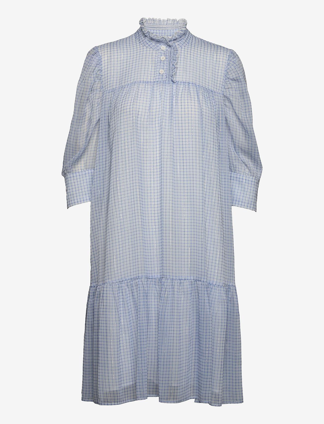 Birgitte Herskind - Liva Dress - sommerkjoler - light blue checks - 1