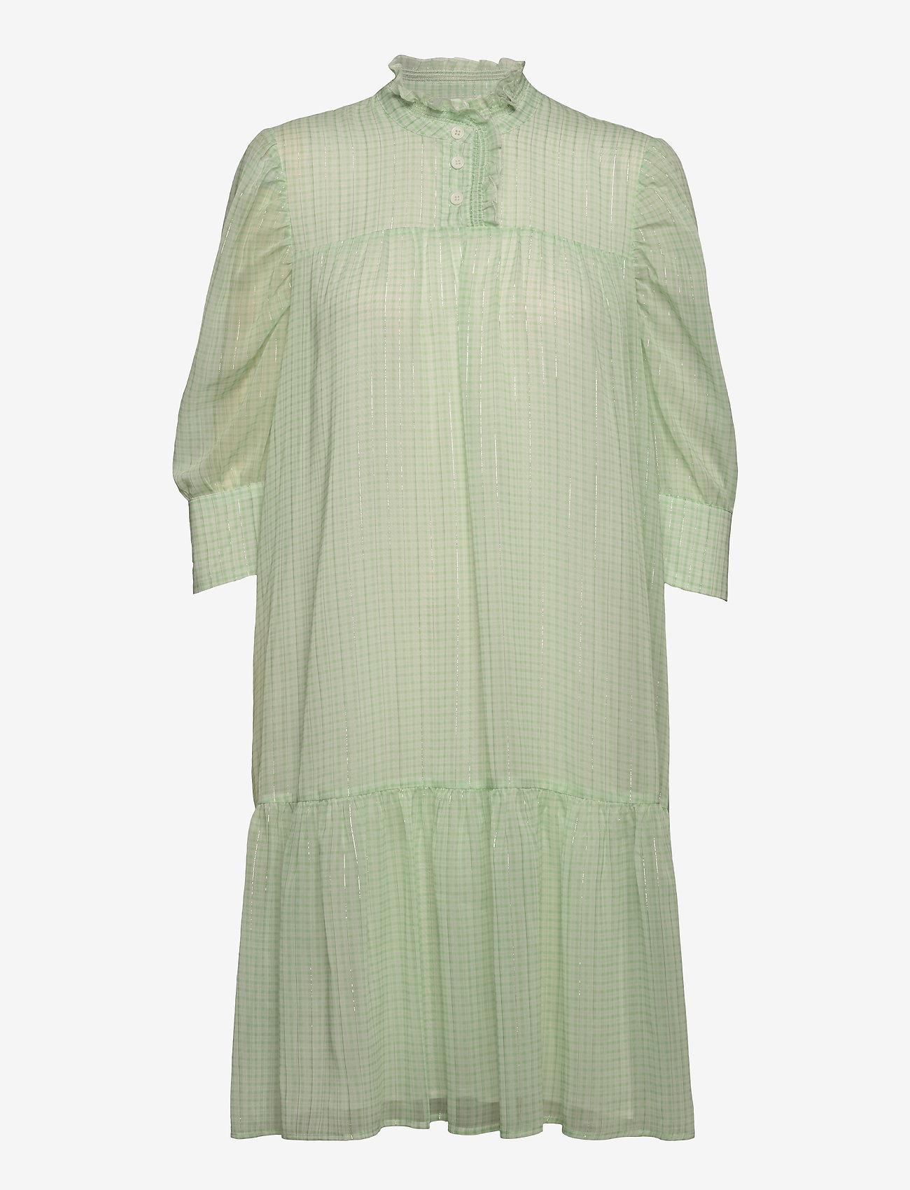 Birgitte Herskind - Liva Dress - sommerkjoler - light green checks - 0