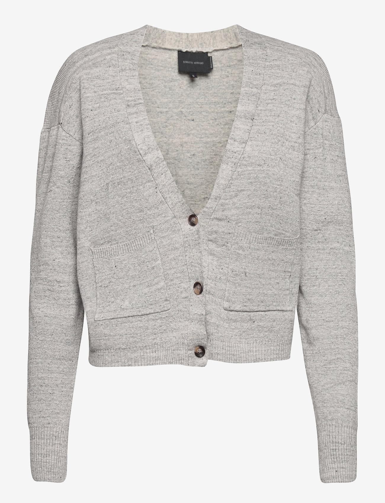 Birgitte Herskind - Yves Cardigan - cardigans - light grey melange - 0