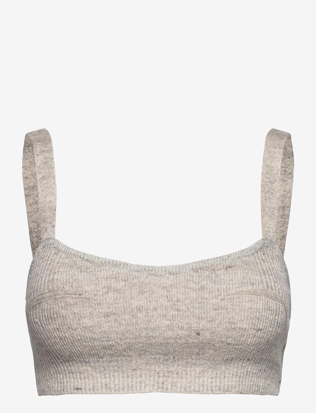 Birgitte Herskind - Paige Top - crop tops - light grey melange - 0