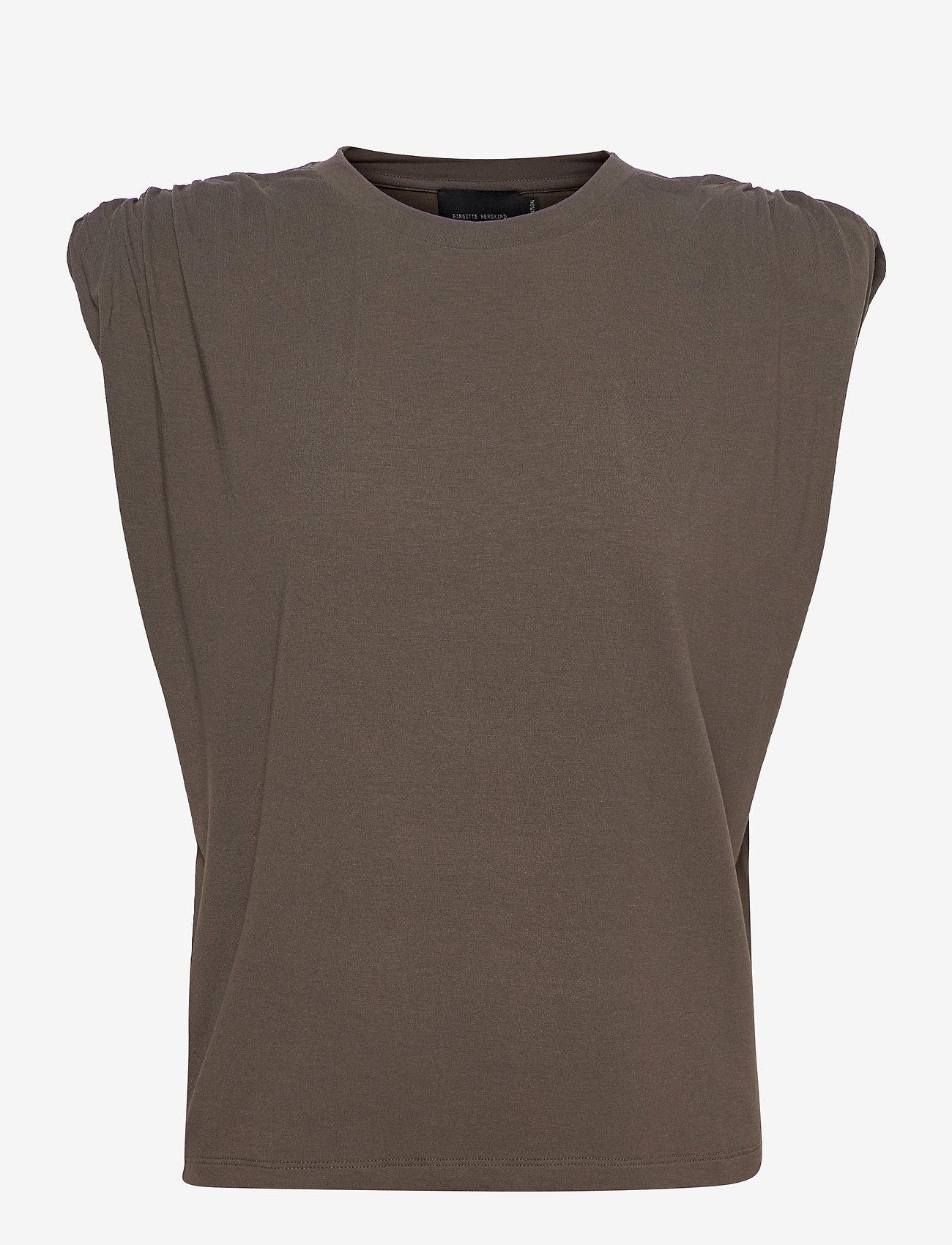 Birgitte Herskind - Sky T-Shirt - Ærmeløse bluser - dark army - 0
