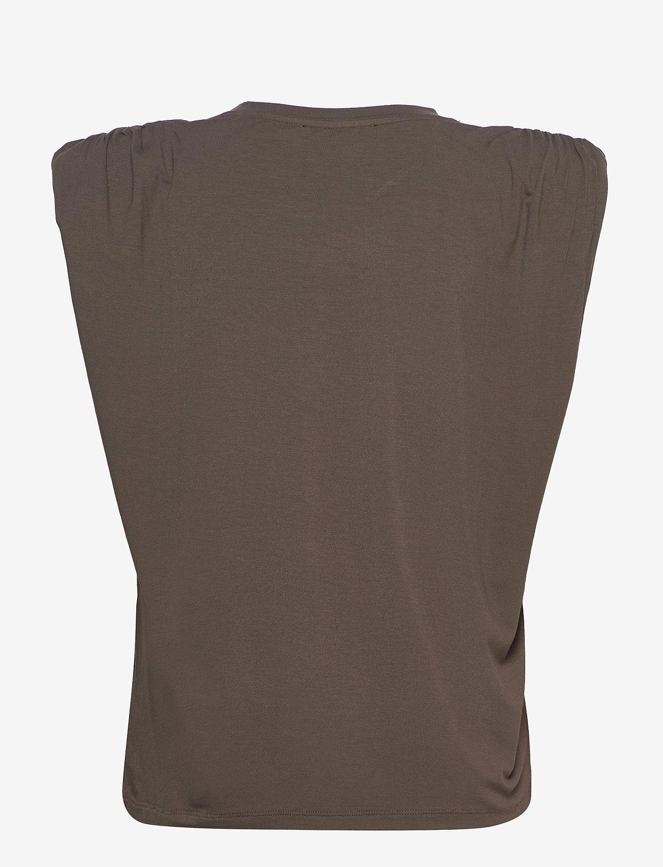 Birgitte Herskind - Sky T-Shirt - Ærmeløse bluser - dark army - 1