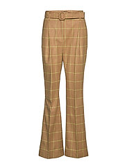 Note Pants - CAMEL CHECKS