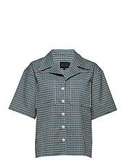 Seven Shirt - TURQUOISE & BROWN CHECKS
