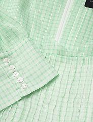 Birgitte Herskind - Silla Dress - sommerkjoler - light green checks - 2
