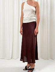 Birgitte Herskind - Sia Skirt - maxi nederdele - coffee brown - 0