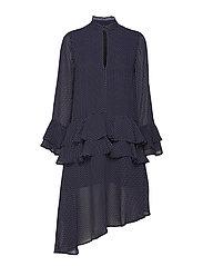Sille Dress - NAVY DOTS