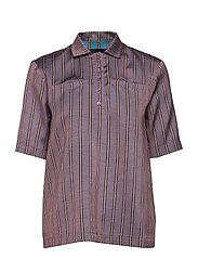 Gabi Shirt - LILAC STRIPE