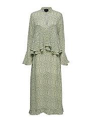 Margaretha Dress - LIME MOSAICS