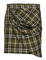 Mina Skirt - GREEN CHECKS