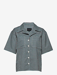 Birgitte Herskind - Seven Shirt - overhemden met korte mouwen - turquoise & brown checks - 0
