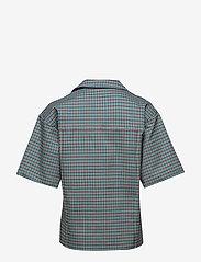 Birgitte Herskind - Seven Shirt - overhemden met korte mouwen - turquoise & brown checks - 1