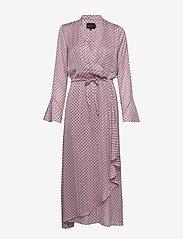 Birgitte Herskind - Rillo Dress - omlottklänning - aop pink chain - 1