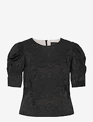 Birgitte Herskind - Wiliam Ltd Blouse - kortærmede bluser - black - 0
