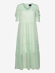 Birgitte Herskind - Silla Dress - sommerkjoler - light green checks - 0