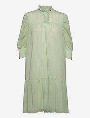 Liva Dress - LIGHT GREEN CHECKS