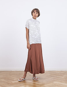 Sia Skirt - maxikjolar - chest nut