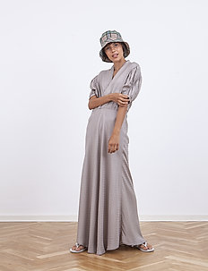 Erika Long Dress - maxiklänningar - greige