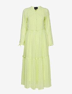 Dassy Long Dress - LIME DOTS