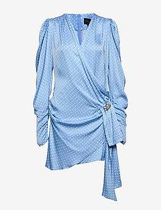 Circa  Dress - DUST BLUE DOTS
